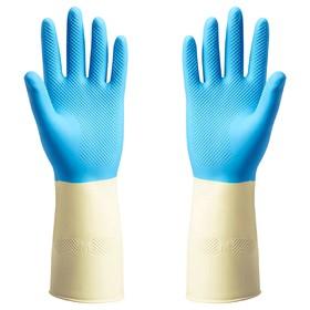 Резиновые перчатки ПОТКЕС, размер S, цвет синий