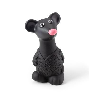 Резиновая игрушка «Мышонок», цвет чёрный - Фото 1