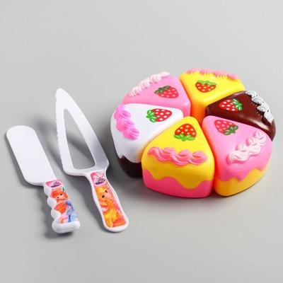 Набор игровой «Чаепитите», тортик и 2 столовых прибора, с книгой рецептов, феи ВИНКС - Фото 1
