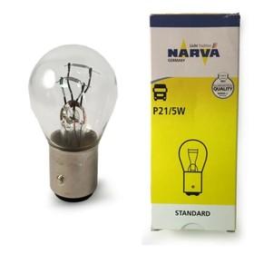 Лампа автомобильная Narva, P21/5W, 12 В, 21/5 Вт, 17916