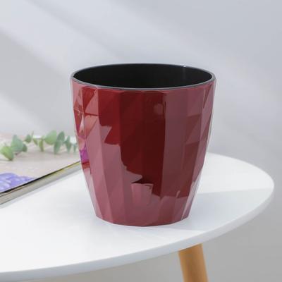 Кашпо с прикорневым поливом Ruby, 3 л, цвет бордовый