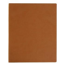 Бизнес-блокнот А4, 96 листов «Премиум», обложка из искусственной кожи, бежевый