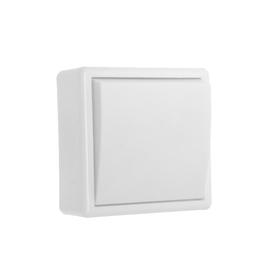 Выключатель 'Элект' А 16-116, 6 А, 1 клавиша, наружный, белый Ош