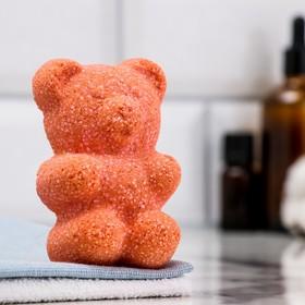 """Шипучая бомбочка """"Медвежонок"""" с ароматом хвойного леса, красная, 100 гр"""