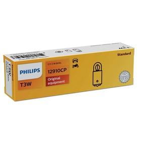 Лампа автомобильная Philips, T2W, 12 В, 2 Вт, (BA9s), 12910CP