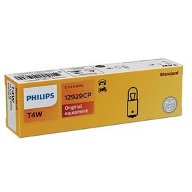 Лампа автомобильная Philips, T4W, 12 В, 4 Вт, (BA9s), 12929CP