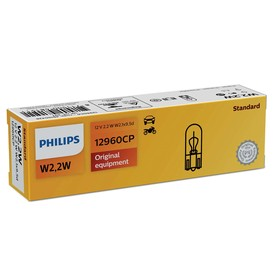 Лампа автомобильная Philips, W2,2W, 12 В, 2.2 Вт, (W2,1x9,5d) T10, 12960CP