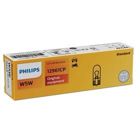 Лампа автомобильная Philips, W5W, 12 В, 5 Вт, (W2,1x9,5d), 12961CP