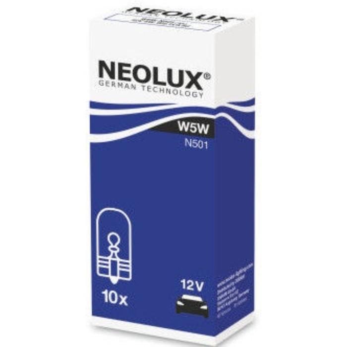 Лампа автомобильная NEOLUX, W5W, 12 В, 5 Вт, (W2,1x9,5d), N501