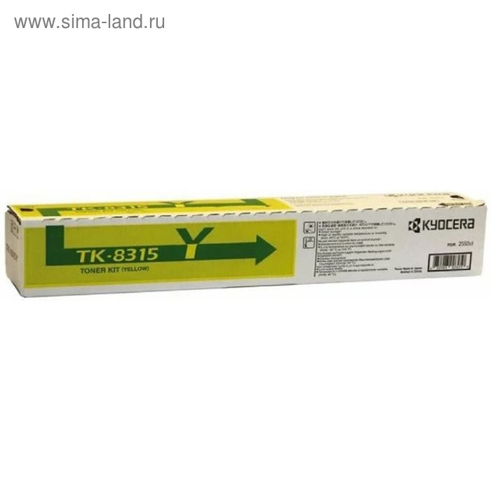 Тонер Картридж Kyocera TK-8315Y желтый для Kyocera TASKalfa 2550ci (6000стр.)
