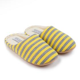 Тапочки женские MINAKU, цвет полоска/жёлтый, размер 35/36
