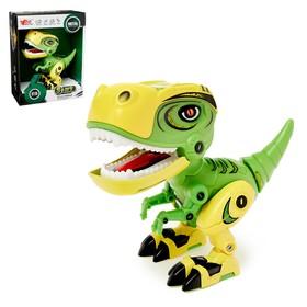 Робот «Минизаврик», реагирует на прикосновение, световые и звуковые эффекты, цвета МИКС Ош