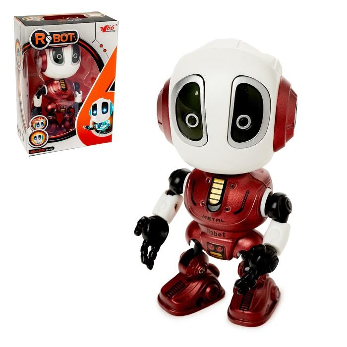 Робот Повторюшка, реагирует на прикосновение, световые и звуковые эффекты, цвета МИКС