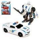 Робот «Полицейский», трансформируется, цвет белый - Фото 1