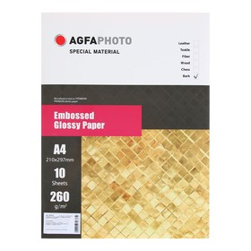 Фотобумага AGFA А4, 10 листов, глянцевая, текстурная, «Береста», 260 г/м²