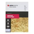 Фотобумага AGFA А4, 10 листов, глянцевая, текстурная, «Волокно», 260 г/м²