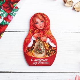 Подвеска-матрёшка на открытке «С любовью из России. Узоры» Ош