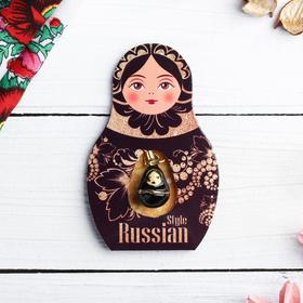 Подвеска-матрёшка на открытке Russian style Ош