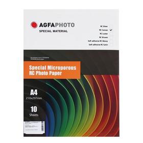Фотобумага AGFA A4, 10 листов, микропористая, RC Холст, 260 г/м²