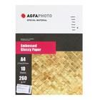 Фотобумага AGFA А4, 10 листов, глянцевая, текстурная, «Клетка», 260 г/м²