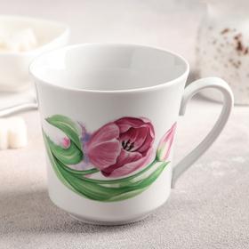 Кружка «Розовые тюльпаны», 250 мл