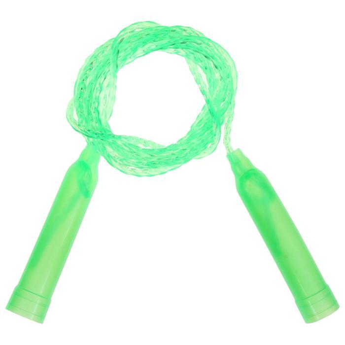 Скакалка пластиковая, 2,2 м, d0,28 см, цвета МИКС
