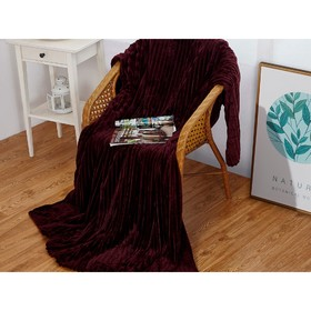 Плед Orrizonte, размер 150 × 200 см, цвет сливовый, велсофт