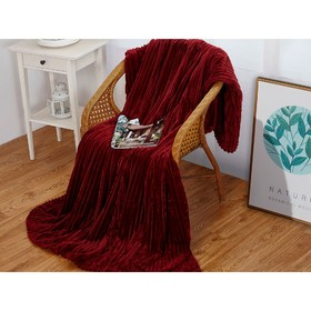 Плед Orrizonte, размер 180 × 200 см, цвет вишнёвый, велсофт