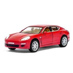 Машина металлическая Porsche Panamera S, масштаб 1:40, открываются двери, инерция, цвет красный