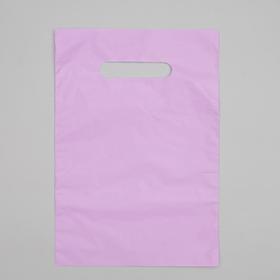 Пакет полиэтиленовый, с вырубной ручкой, сиреневый, 20 х 30, 33 мкм Ош