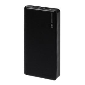 Внешний аккумулятор LuazON PB-01, 7200 мАч, 2 USB, 1/2.1 А, фонарик, чёрный Ош
