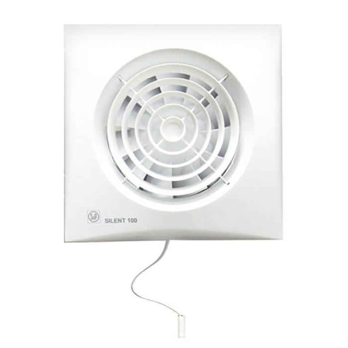 Вентилятор S&P SILENT-100 CMZ, 220-240 В, бесшумный, 50 Гц, белый