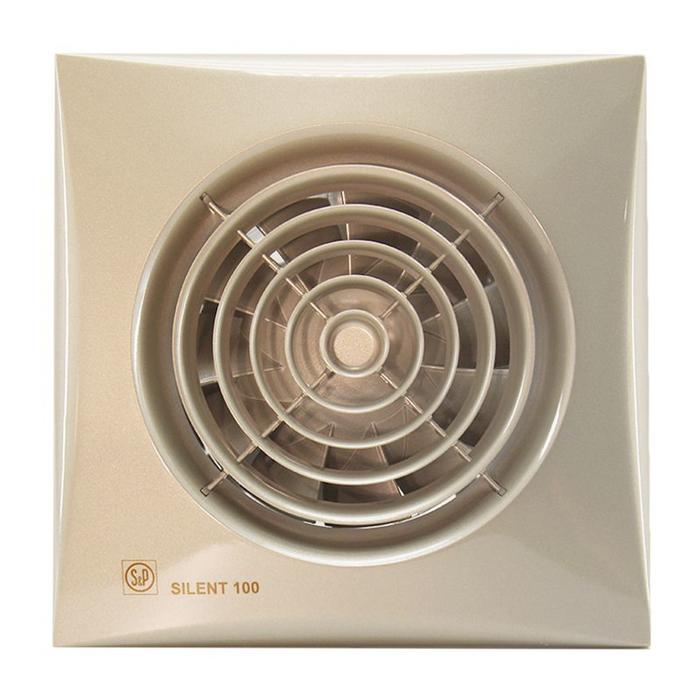 Вентилятор S&P SILENT-100 CZ CHAMPAGNE, 220-240 В, бесшумный, 50 Гц, цвет шампань