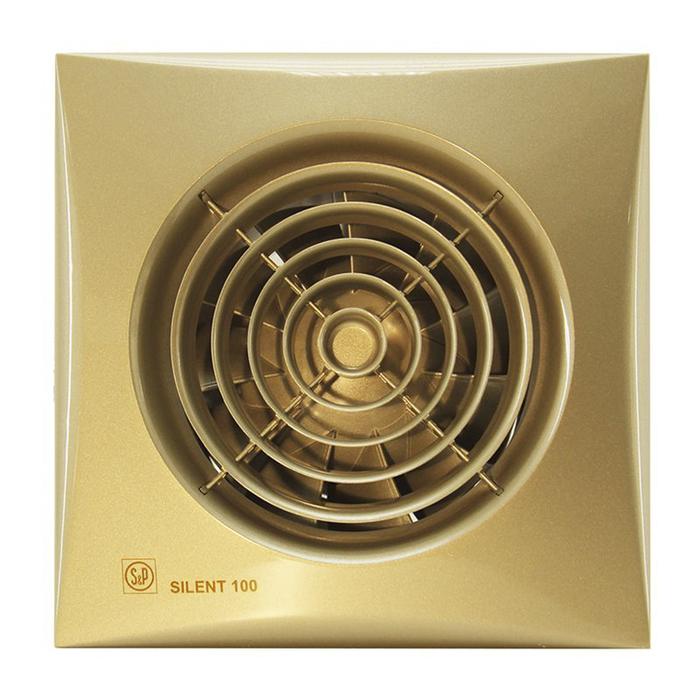 Вентилятор S&P SILENT-100 CZ GOLD, 220-240 В, бесшумный, 50 Гц, золотой
