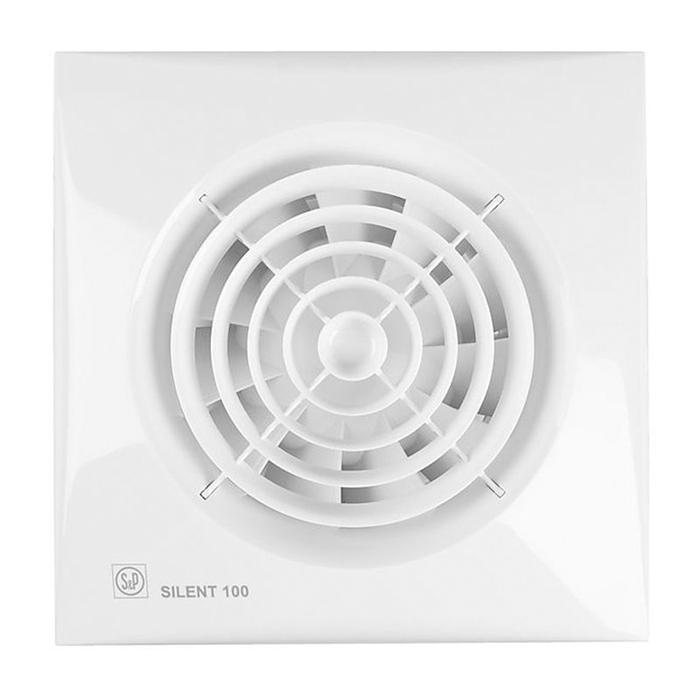 Вентилятор S&P SILENT-100 CRZ, 220-240 В, бесшумный, 50 Гц, белый