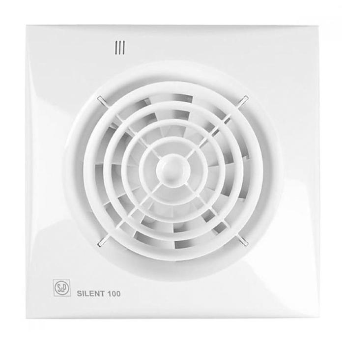Вентилятор S&P SILENT-100 CHZ, 220-240 В, бесшумный, 50 Гц, белый