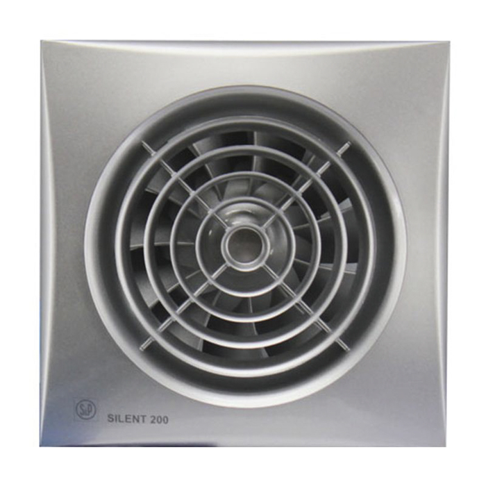 Вентилятор S&P SILENT-200 CZ SILVER, 220-240 В, бесшумный, 50 Гц, серебряный