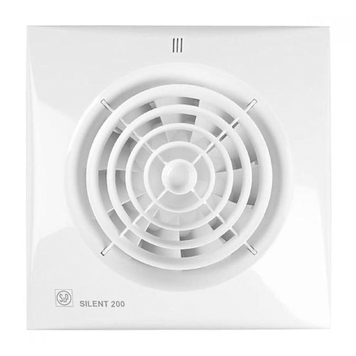 Вентилятор S&P SILENT-200 CHZ, 220-240 В, бесшумный, 50 Гц, белый