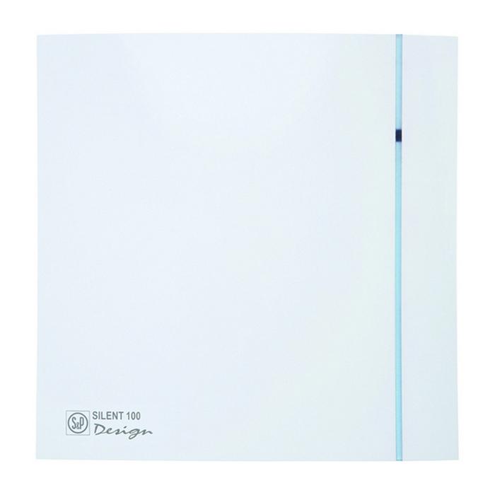 Вентилятор S&P SILENT-100 CZ DESIGN-3C, 220-240 В, бесшумный, 50 Гц, белый