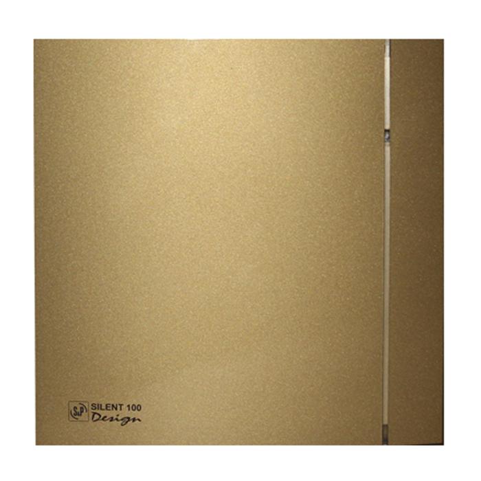 Вентилятор S&P SILENT-100 CZ GOLD DESIGN-4C, 220-240 В, бесшумный, 50 Гц, цвет золотой