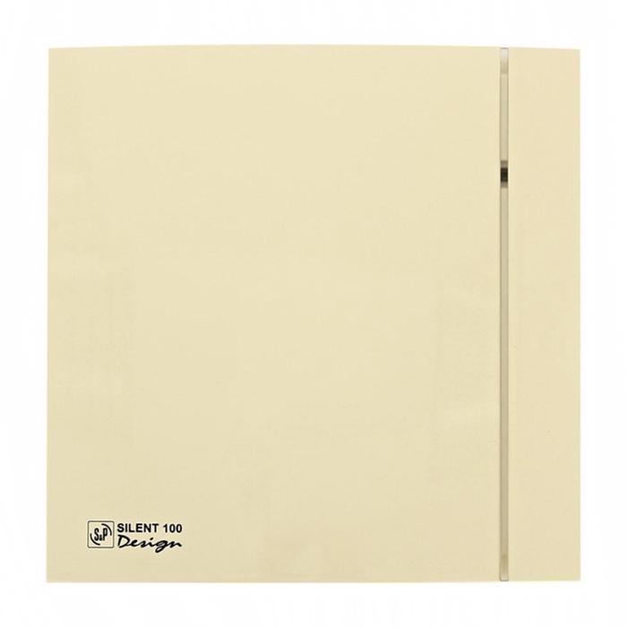 Вентилятор S&P SILENT-100 CZ IVORY DESIGN-4C, 220-240 В, бесшумный, 50 Гц, слоновая кость