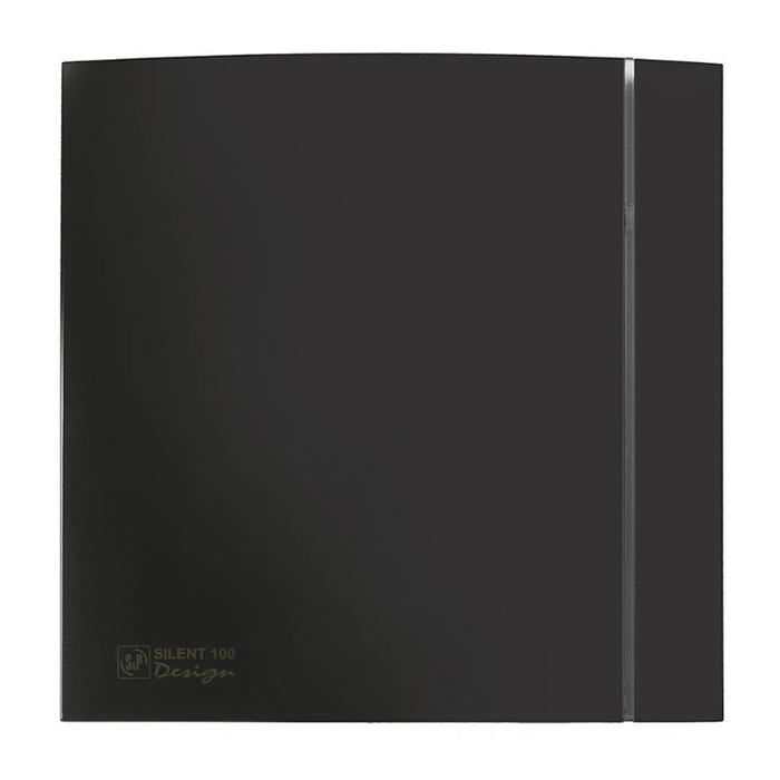 Вентилятор S&P SILENT-100 CZ BLACK DESIGN-4C, 220-240 В, бесшумный, 50 Гц, черный