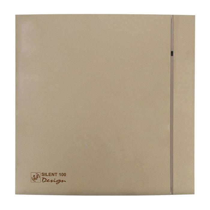 Вентилятор S&P SILENT-100 CZ DESIGN-4C, 220-240 В, бесшумный, 50 Гц, цвет шампань