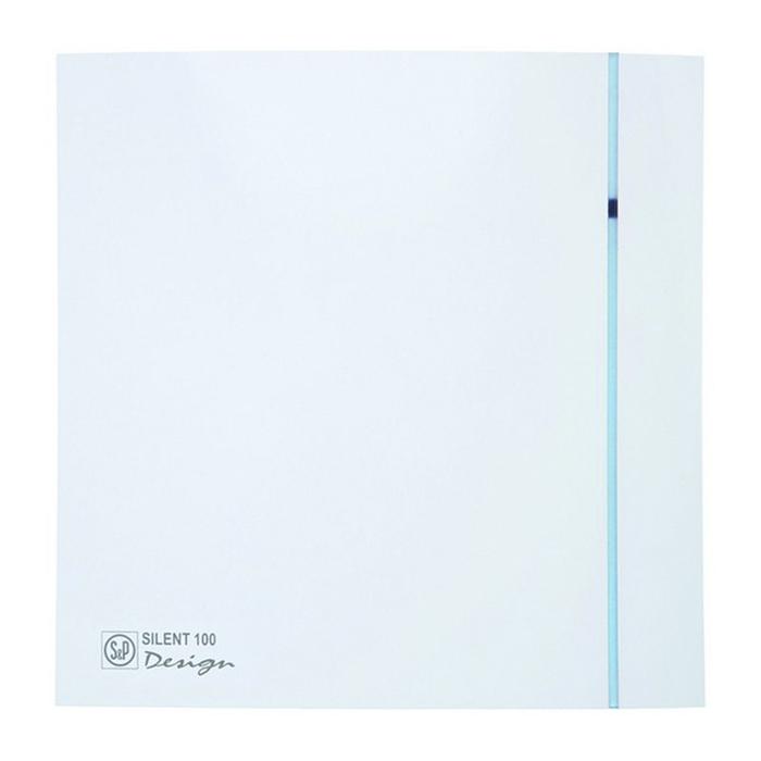 Вентилятор S&P SILENT-100 CRZ DESIGN-3C, 220-240 В, бесшумный, 50 Гц, белый