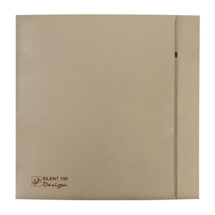Вентилятор S&P SILENT-100 CRZ DESIGN-4C, 220-240 В, бесшумный, 50 Гц, цвет шампань