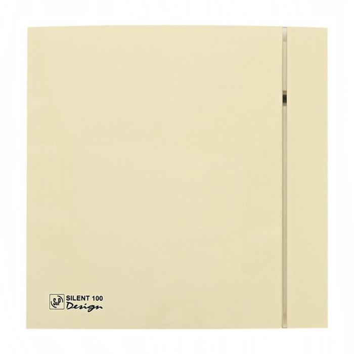 Вентилятор S&P SILENT-100 CRZ IVORY DESIGN-4C, 220-240 В, бесшумный, 50 Гц, слоновая кость