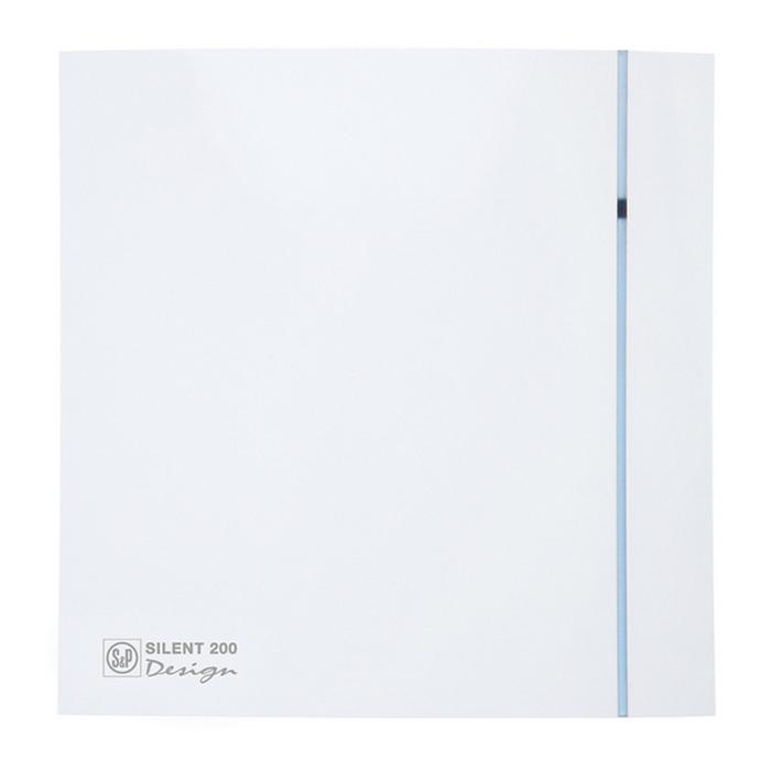 Вентилятор S&P SILENT-200 CZ DESIGN-3C, 220-240 В, бесшумный, 50 Гц, белый