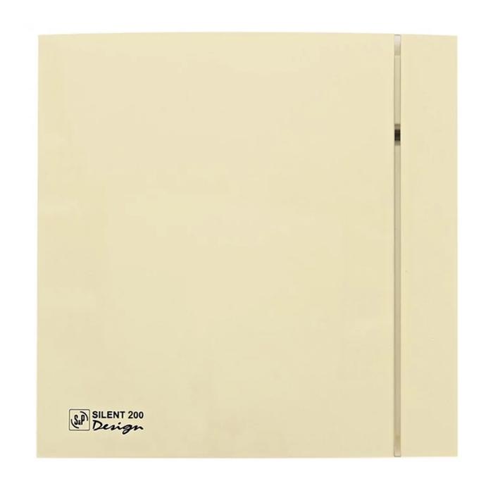 Вентилятор S&P SILENT-200 CZ IVORY DESIGN-4C, 220-240 В, бесшумный, 50 Гц, слоновая кость