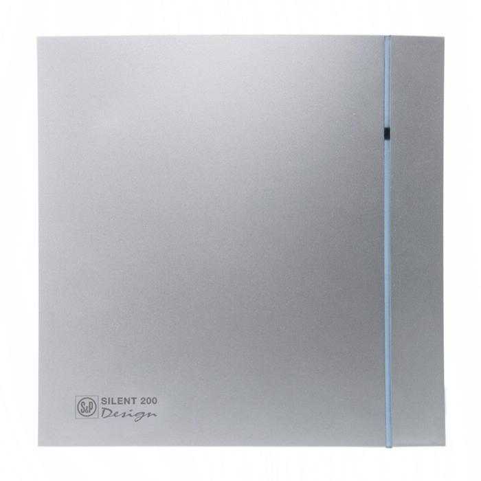 Вентилятор S&P SILENT-200 CZ SILVER DESIGN-3C, 220-240 В, бесшумный, 50 Гц, серебряный