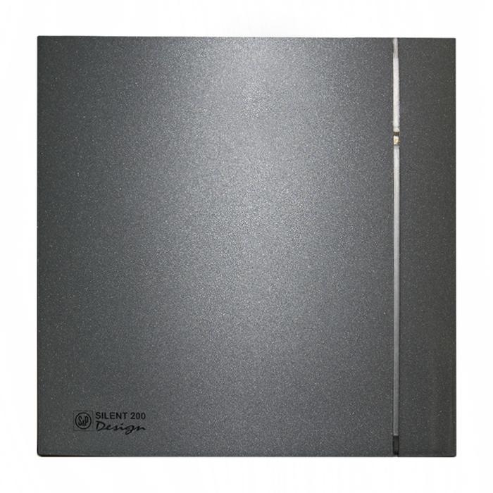 Вентилятор S&P SILENT-200 CZ GREY DESIGN-4C, 220-240 В, бесшумный, 50 Гц, серый